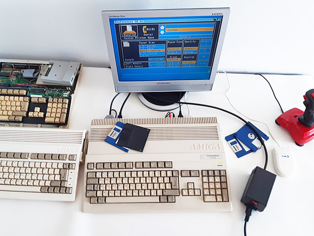 Amiga PSU testing station.